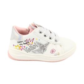 Girls' sports shoes star American Club GC15 white grey