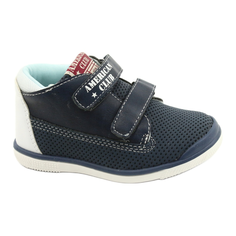 American Club Sport Shoes With Velcro GC12 Navy Blue white