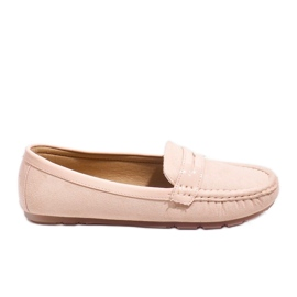 Pink moccasins with FM2958-3 buckle