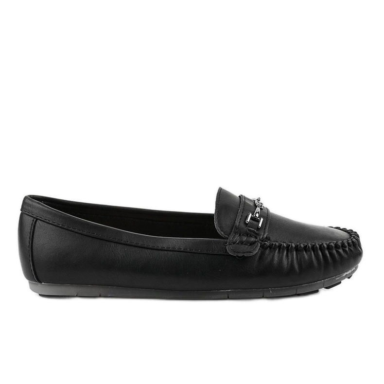 Black loafers ballerina with eco leather FM3102A