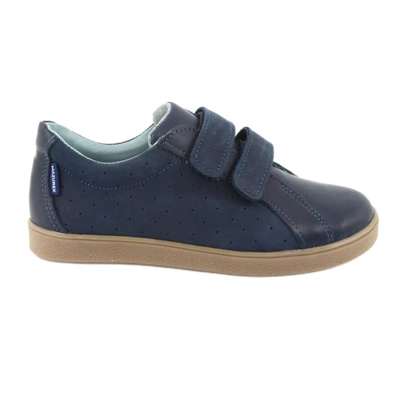 Boys' Velcro shoes Mazurek 1235 navy blue