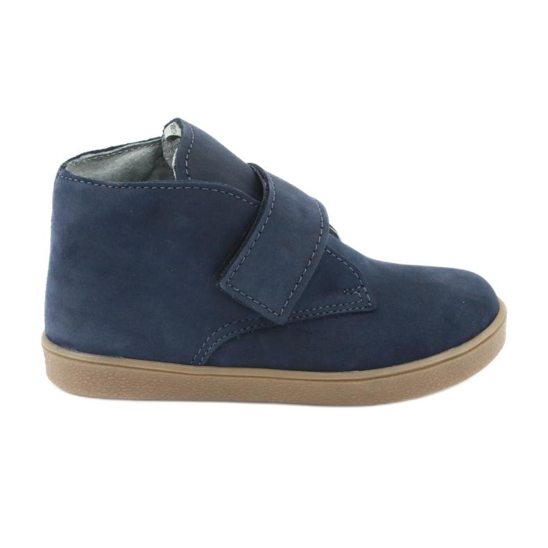 Velcro shoes Mazurek 1101 navy blue brown
