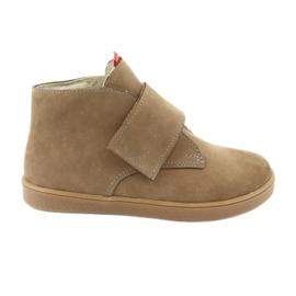 Velcro shoes Mazurek 1101 dark beige