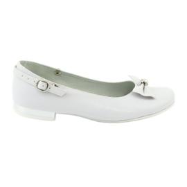Miko 806 white communion ballerinas grey