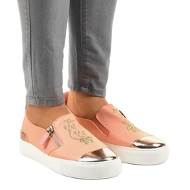 Pink classic slip-on sneakers A-89