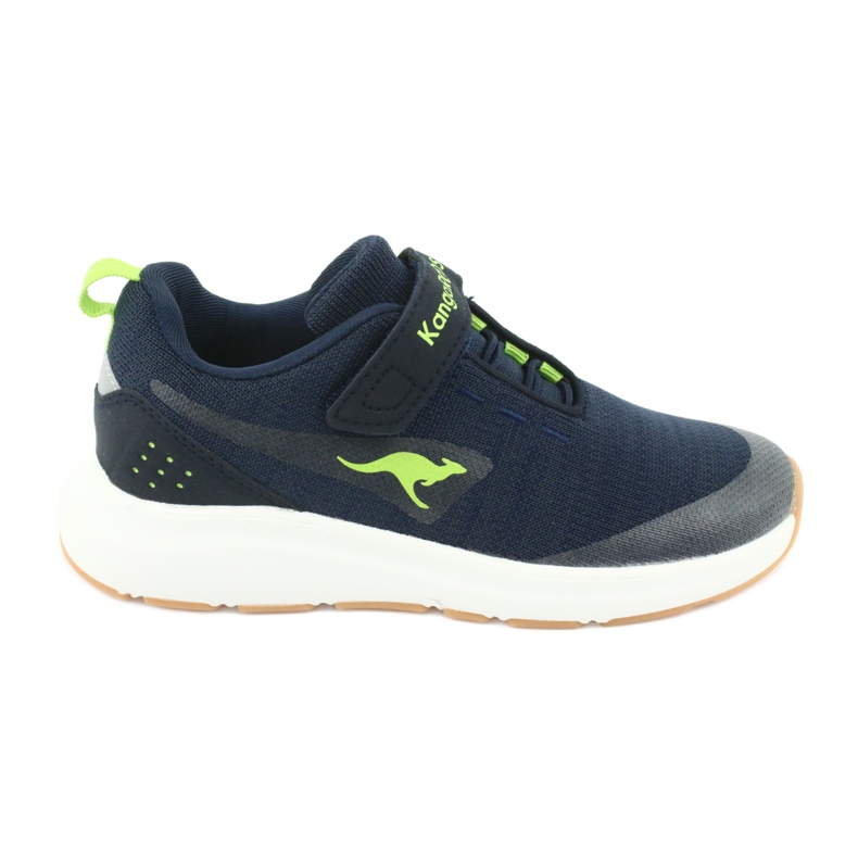 KangaROOS sports shoes with Velcro 18508 navy / lime green