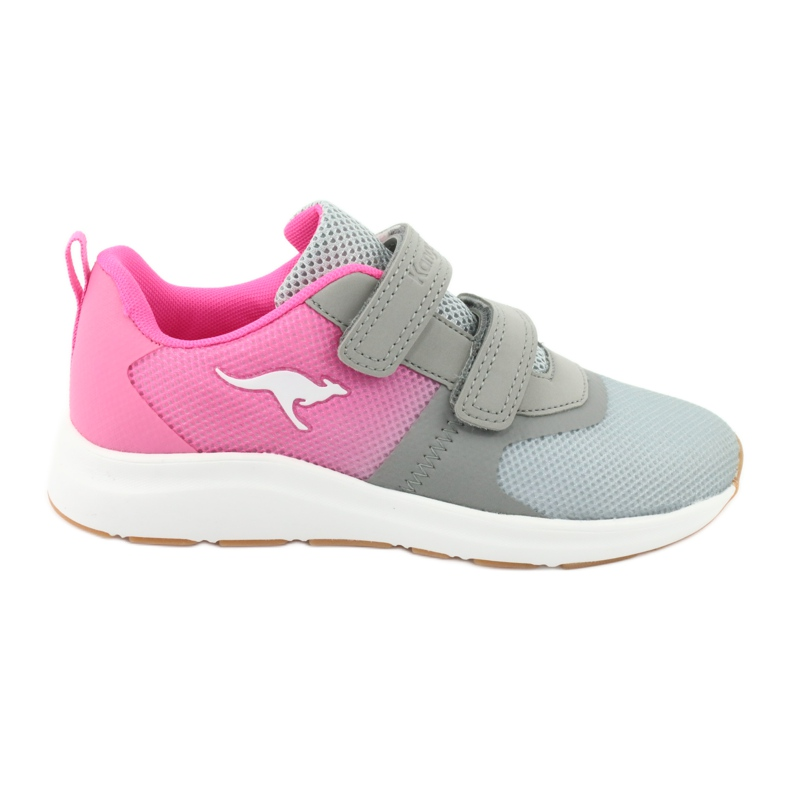 KangaROOS sports shoes with Velcro 18506 gray / neon pink grey