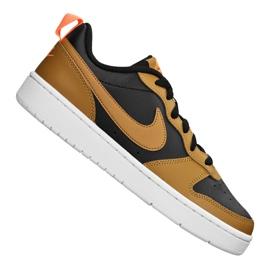 Nike Court Borough Low 2 Jr BQ5448-004 shoes black yellow
