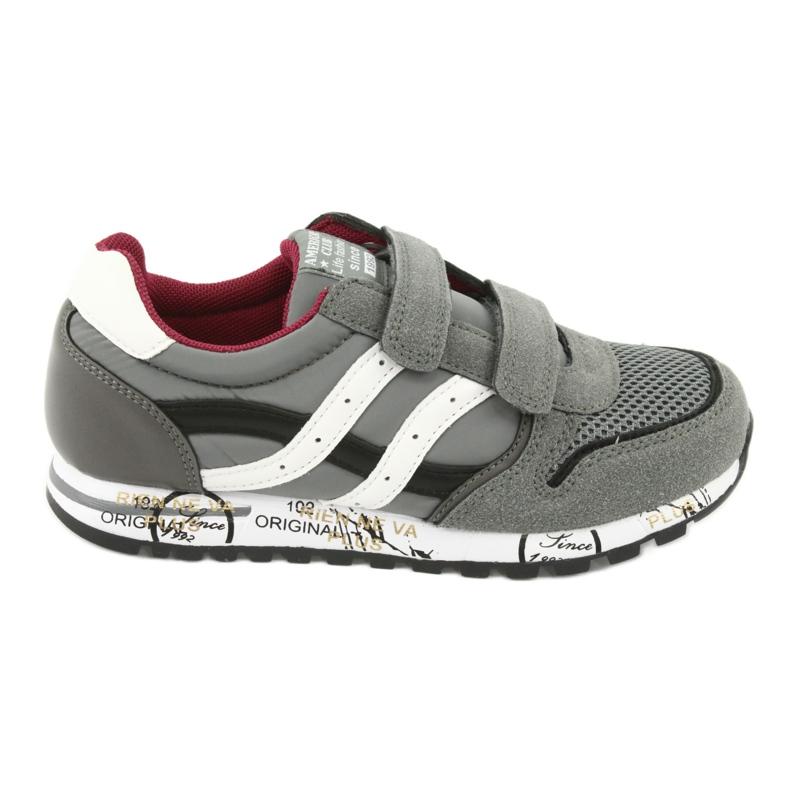 American Club American Boys' Gray Club Sports Shoes ES02 white black red grey