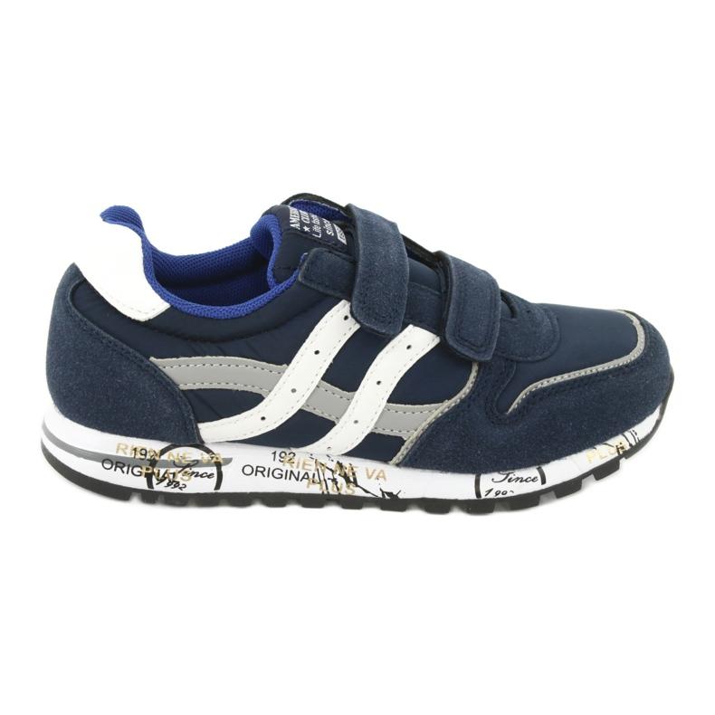 Grenade American Club ES02 boys' sports shoes white navy blue grey