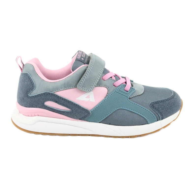 American Club BS12 blue sports shoes pink grey