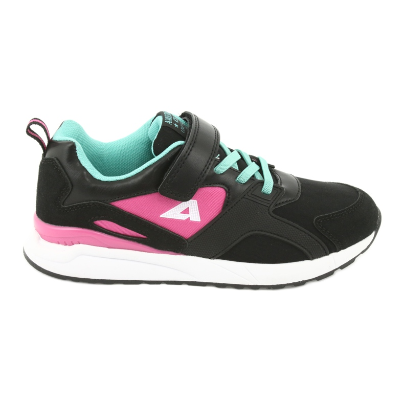 Black American Club BS12 sports shoes pink green