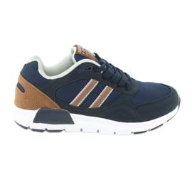 American Club BS10 Navy Blue Sport Shoes brown