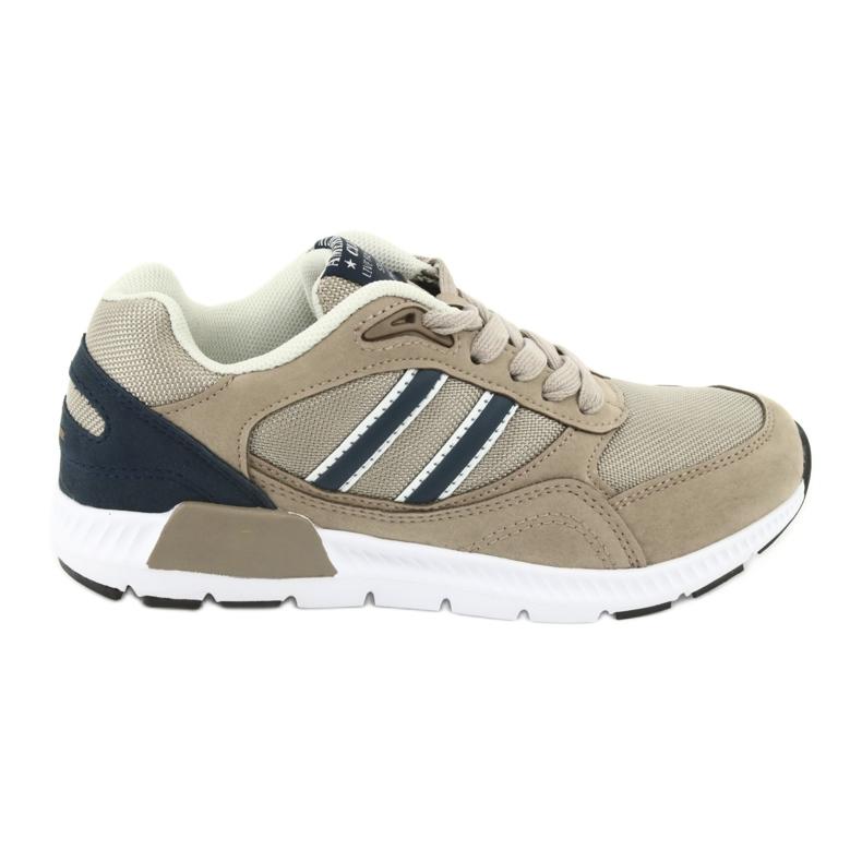 American Club BS10 Beige Sport Shoes white brown navy