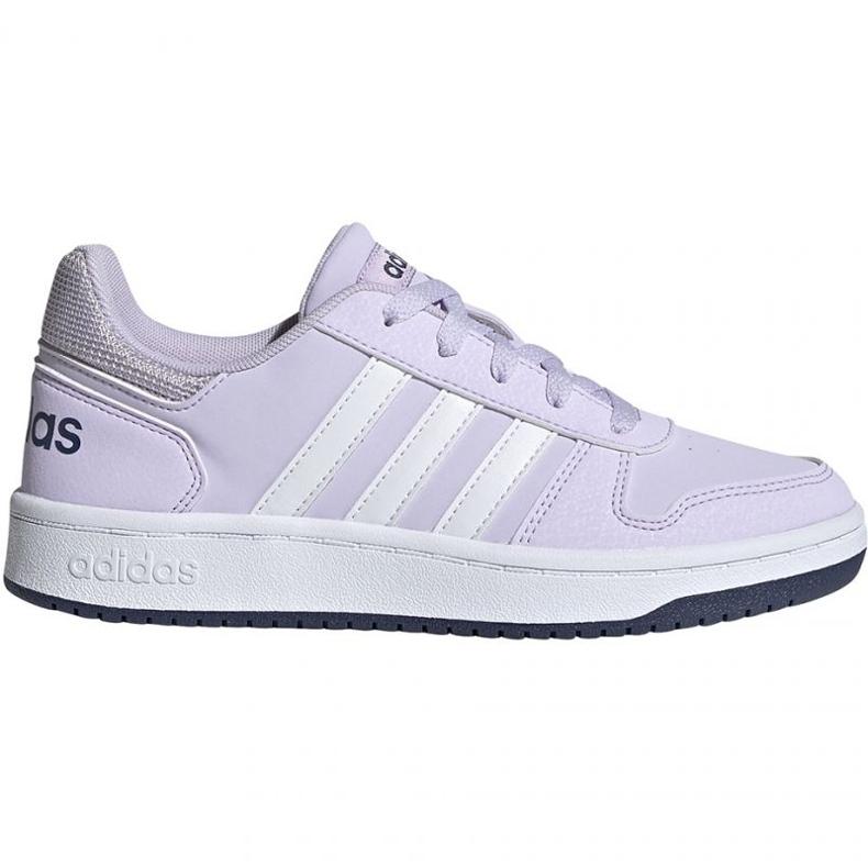 Adidas Hoops 2.0 K Jr EG9075 shoes violet