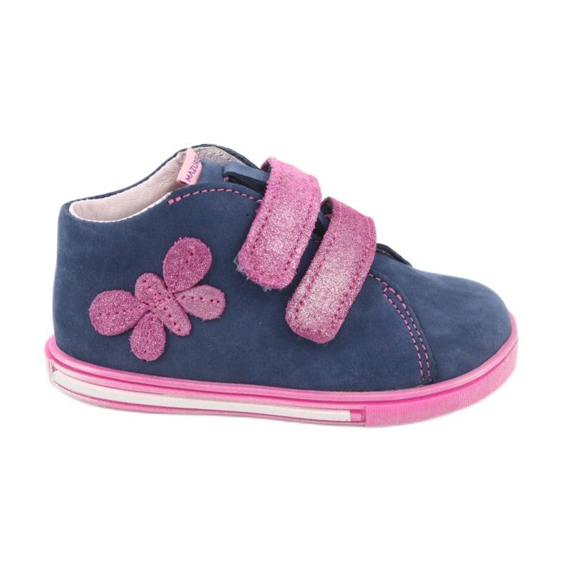 Blue Mazurek 264 butterfly boots navy pink