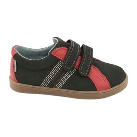 Boys' Velcro shoes Mazurek 1235 black red