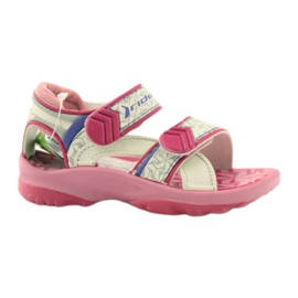 Pink sandals children's shoes for water Rider 80608 ['shades of pink', 'shades of gray and silver', 'biel']