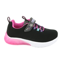 Pink American Club ES14 black sports shoes violet