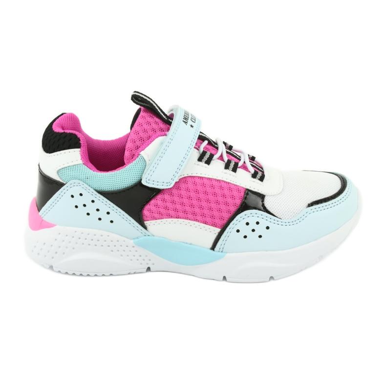 Fashionable American Club ES07 sports shoes white blue pink