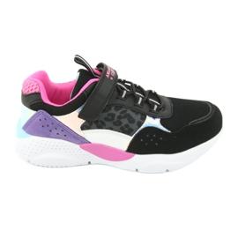 Fashionable American Club ES07 sports shoes black violet pink grey
