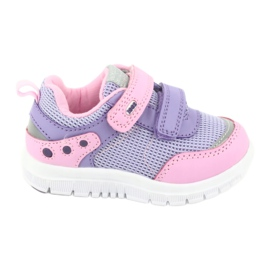 American Club ES23 two Velcro trainers violet pink