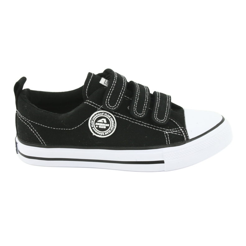 American Club American children's sneakers with Velcro LH33 white black