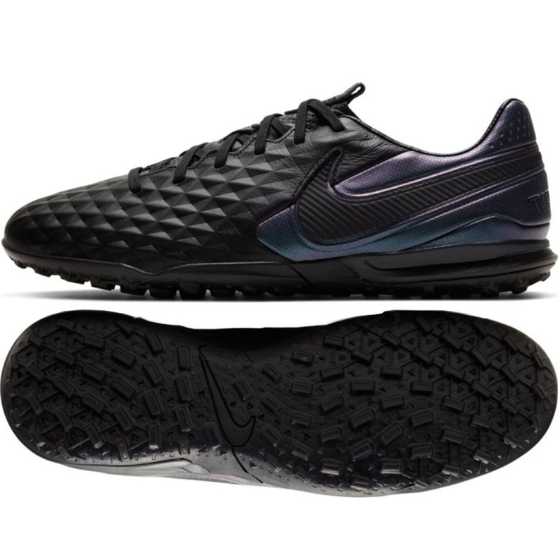 Nike Tiempo Legend 8 Pro Tf M AT6136-010 football shoes black black
