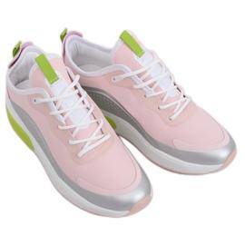 Pink YK106 GRAY / PINK women's sports shoes grey