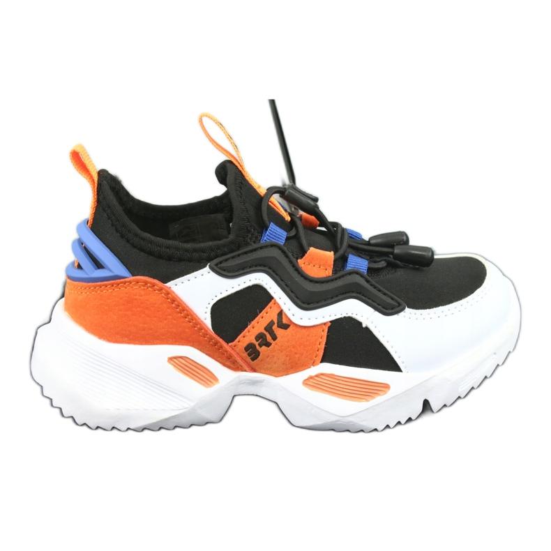 Bartek sports shoes 75219 white black blue orange