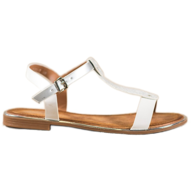 Small Swan Classic Sandals With Eco Leather white