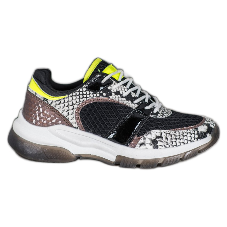 Kylie Comfortable sneakers from Snake Print multicolored
