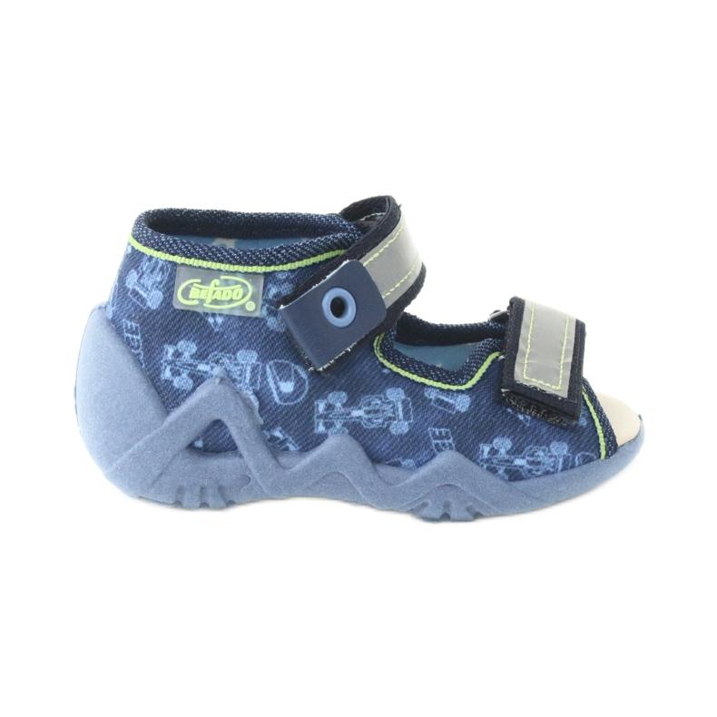 Befado yellow children's footwear 350P011 navy blue grey green