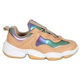 Kylie Stylish Sport Shoes beige multicolored