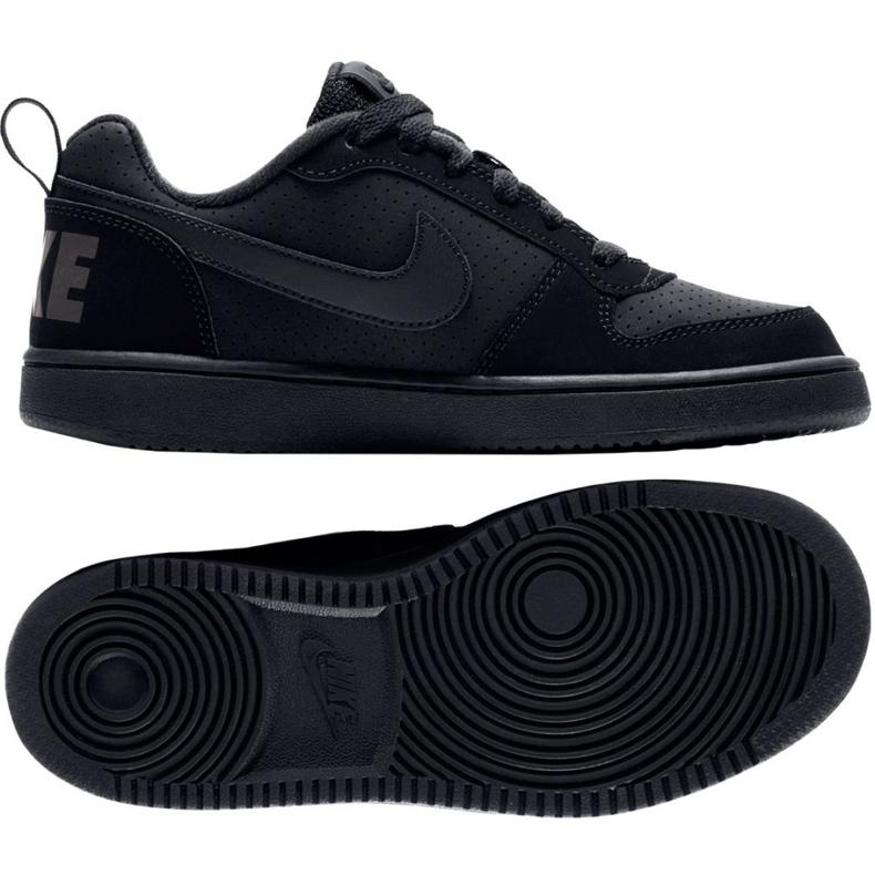 Nike Court Borough Low Gs 839985 001 shoes black