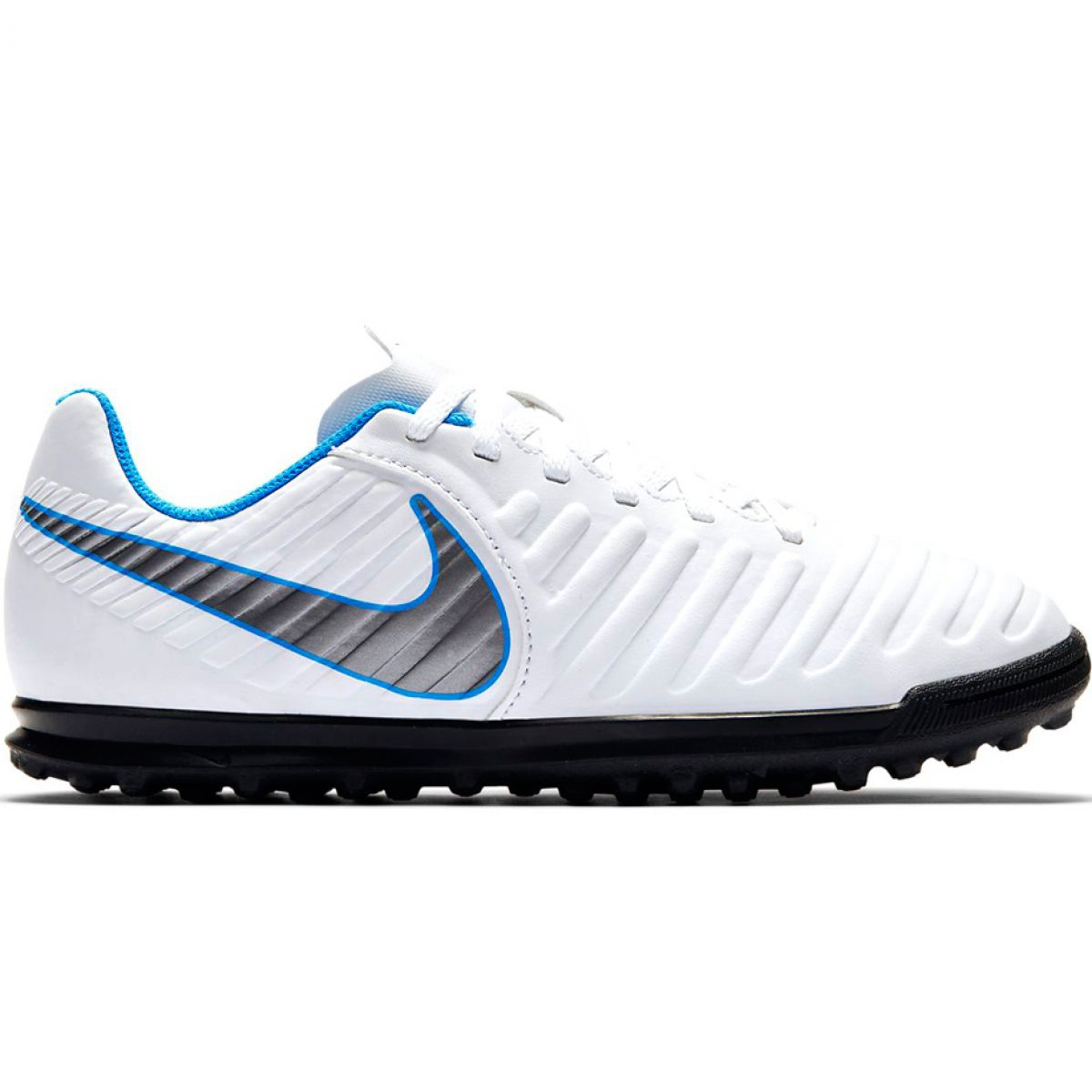 Quemar recursos humanos líquido  Nike Tiempo Legend 7 Club Tf Jr AH7261 107 football shoes white black -  ButyModne.pl