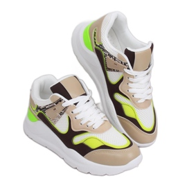 JD01P White women's sports shoes multicolored