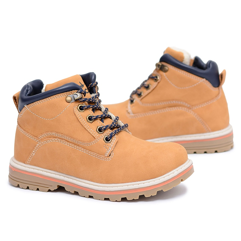 Vico Children's Boys' Warm Boots with Fleece Camel Billy brown