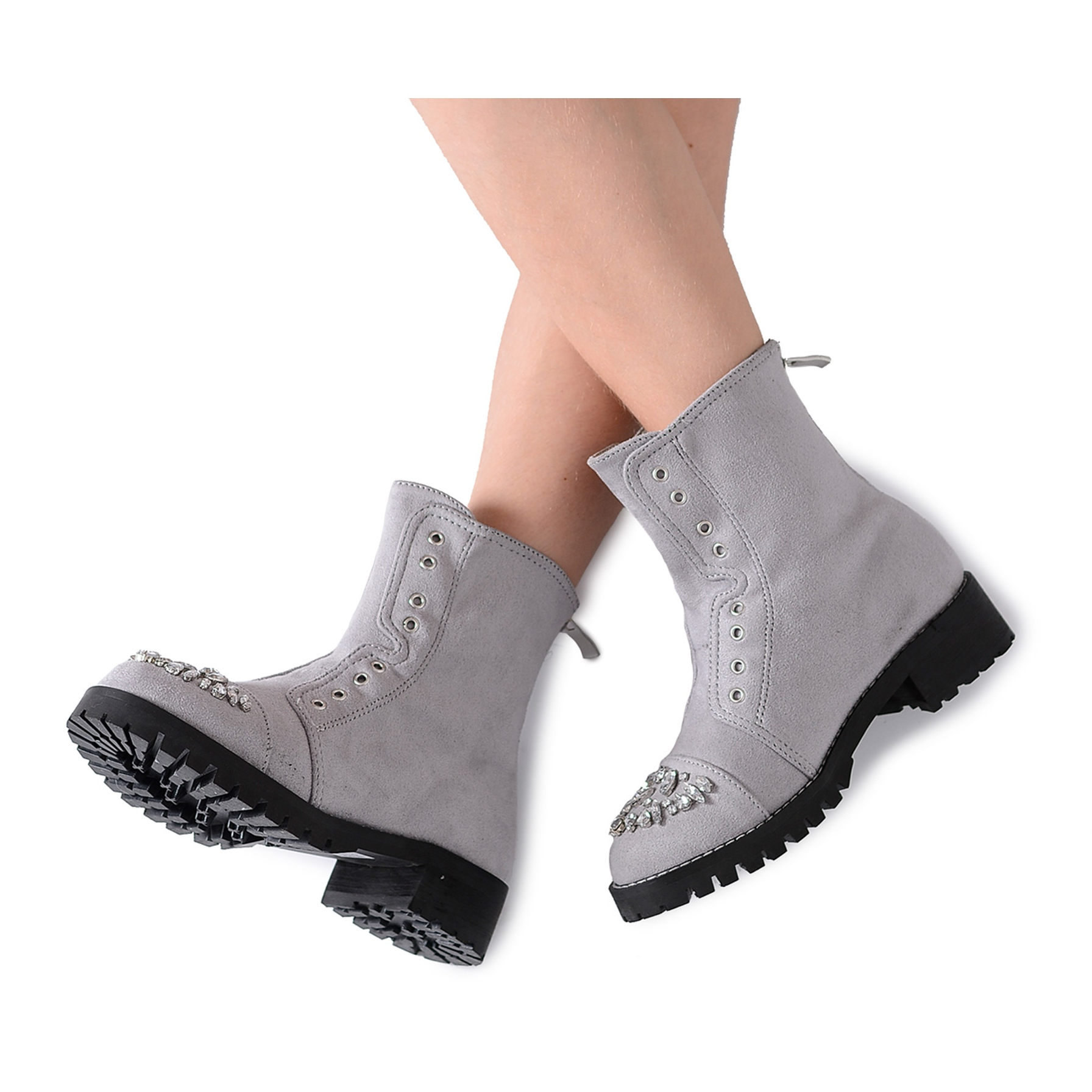 Lu Boo Gray Children's Ankle Boots with