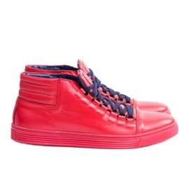 KENT Men's Leather Torres Red Sneakers