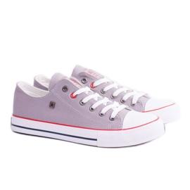 Big Star Low Mens Gray Sneakers T174109 grey