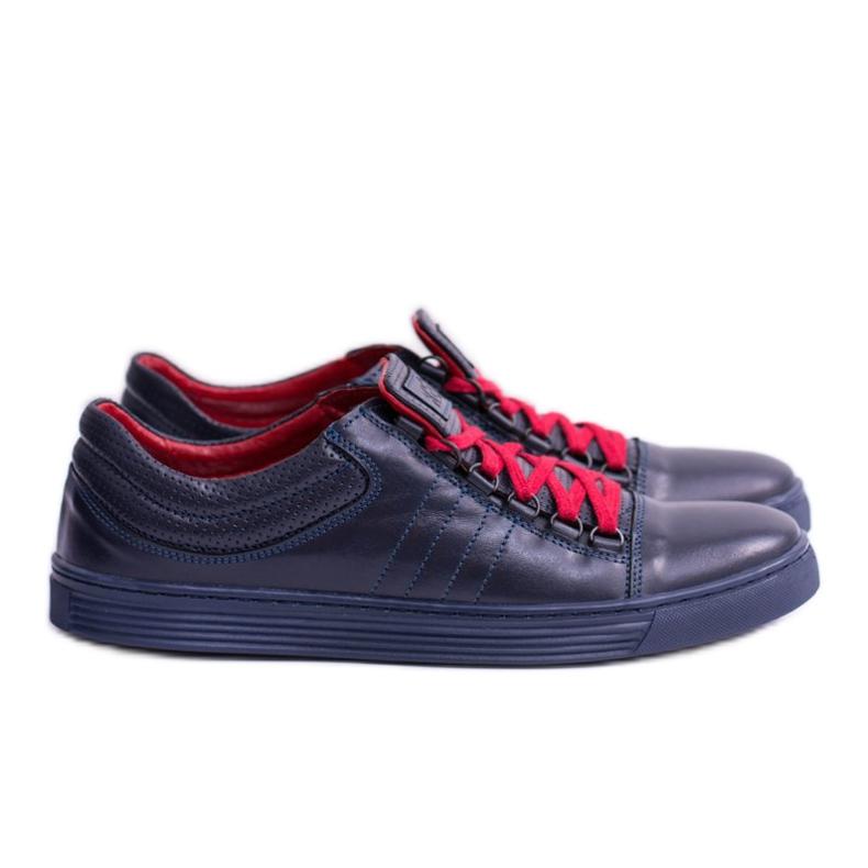 KENT Elon Men's Leather Sneakers navy