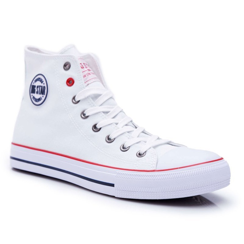 Big Star High Mens White Sneakers T174106