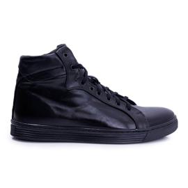 Bednarek Polish Shoes Men's Leather Sneakers Bednarek Czarne Edys black