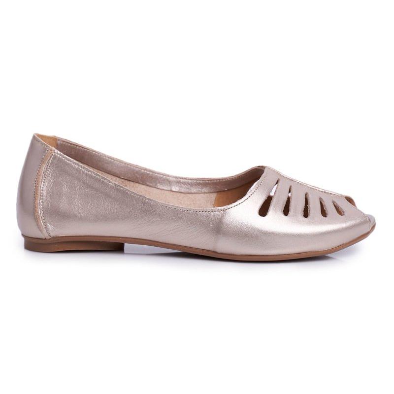 Maciejka women's ballet leather gold