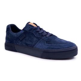 Big Star Sneakers Suede Navy Blue EE174363