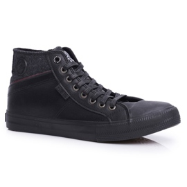 Big Star Black Men's High Top Sneakers EE174102