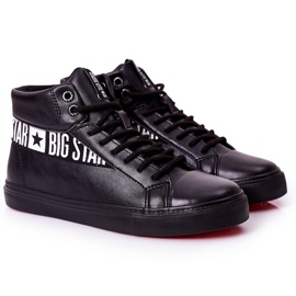 Big Star Men's High Sneakers Black EE174339