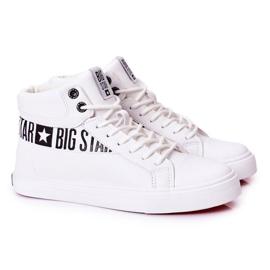 Big Star Mens High Sneakers White EE174340