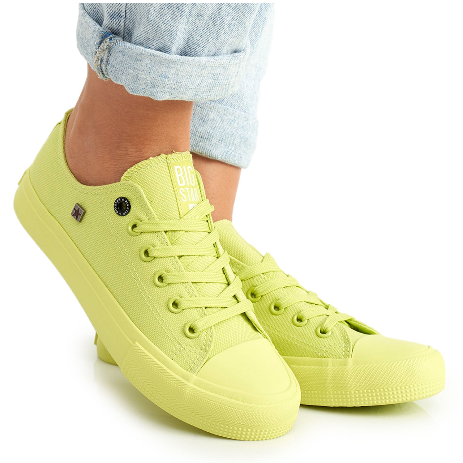 Women's Big Star Lime Sneakers AA274012